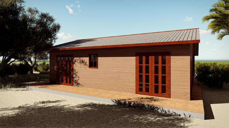 Casa prefabricada en madera Casas de estilo rural de JMGLL - Arquitecto Rural Madera Acabado en madera