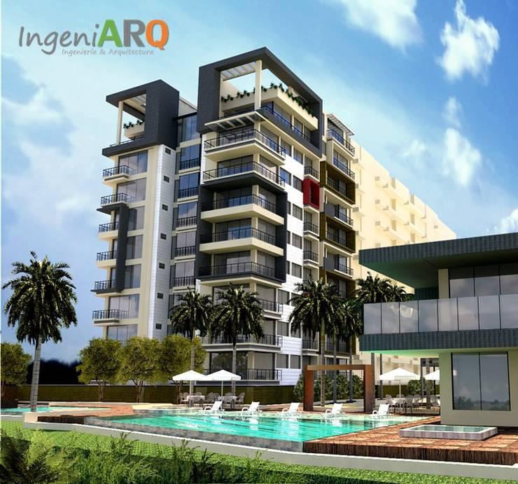PORTADA : Casas de estilo moderno por IngeniARQ