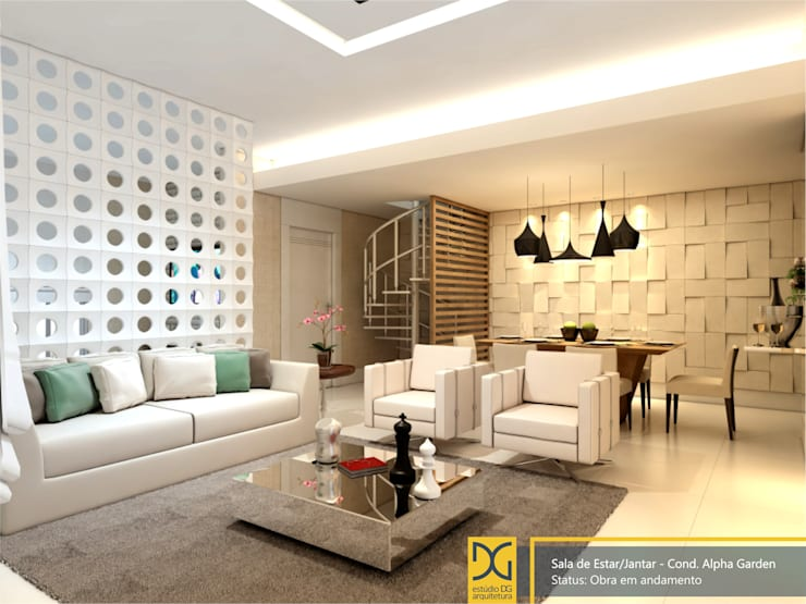 Salas de estilo  por Estúdio DG Arquitetura