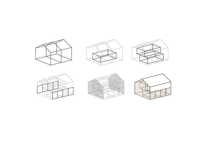 CONCEPTO ESPACIAL DE VIVIENDA: Casas de estilo tropical por SUPERFICIES Estudio de arquitectura y construccion