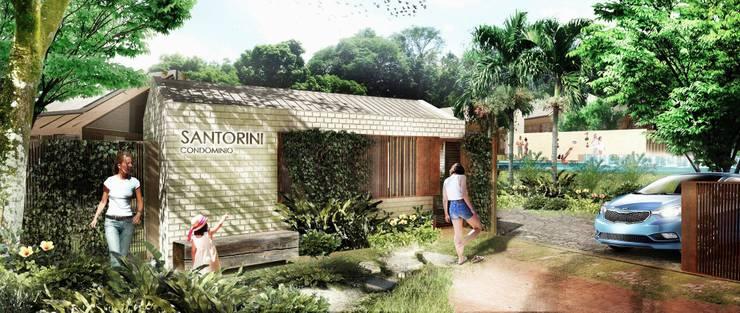 PORTERIA: Casas de estilo tropical por SUPERFICIES Estudio de arquitectura y construccion