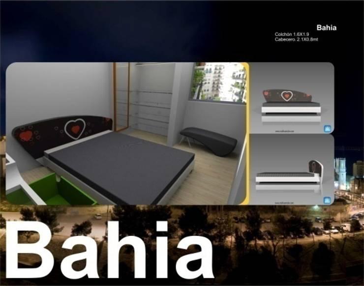 Camas y Dormitorios:  de estilo  por Domicilio, Ecléctico Compuestos de madera y plástico