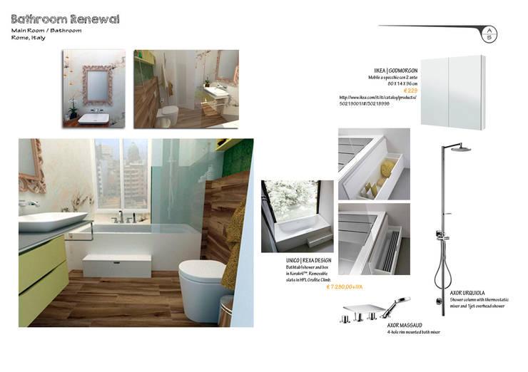 Un Baño con Mucho Estilo:  de estilo  por A3 Interiors