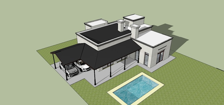 Casas de estilo  por Di Gaeta-Marrón Arquitectos
