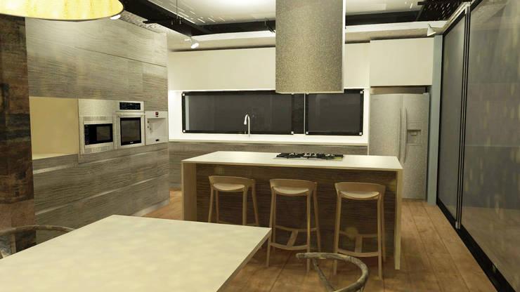 Cocinas de estilo  por Di Gaeta-Marrón Arquitectos , Industrial
