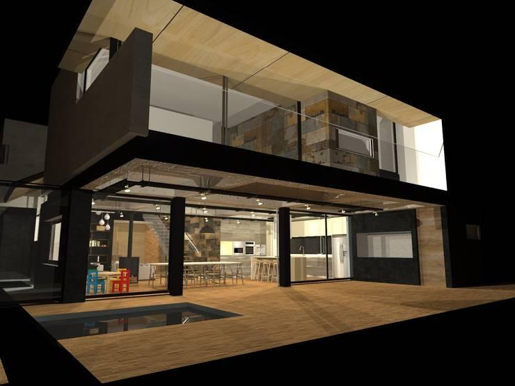 Casas de estilo  por Di Gaeta-Marrón Arquitectos , Industrial