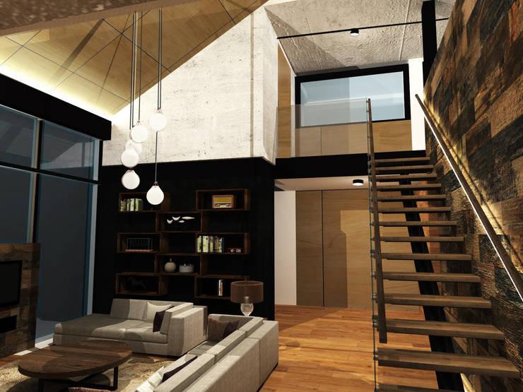 Livings de estilo  por Di Gaeta-Marrón Arquitectos , Industrial