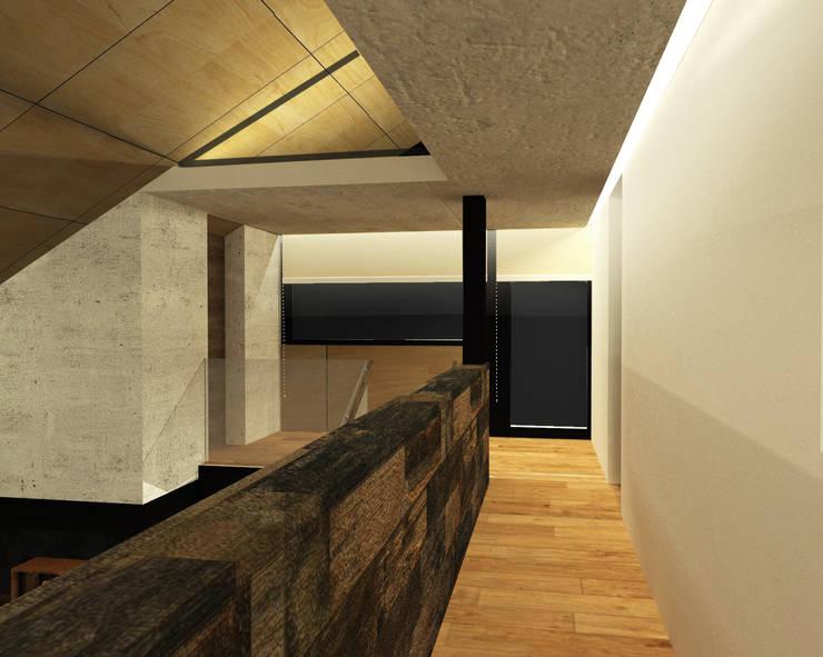 Pasillos y recibidores de estilo  por Di Gaeta-Marrón Arquitectos , Industrial