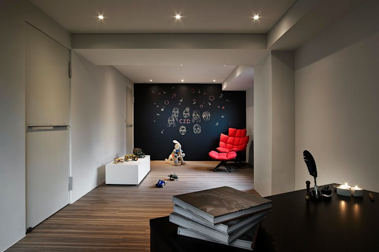 淡水許宅:  嬰兒房/兒童房 by 晨室空間設計有限公司