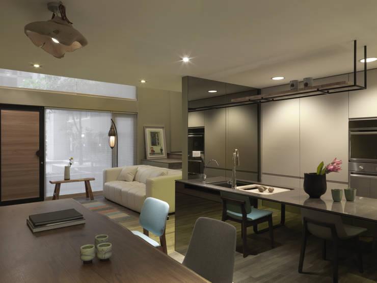 小小的森屋:  廚房 by 賀澤室內設計 HOZO_interior_design