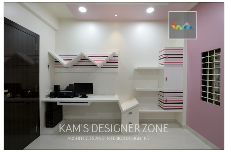 Study Room Wall Design:  Study/office by KAM'S DESIGNER ZONE