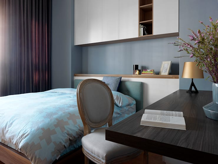 | L&C 住宅 |:  臥室 by 賀澤室內設計 HOZO_interior_design