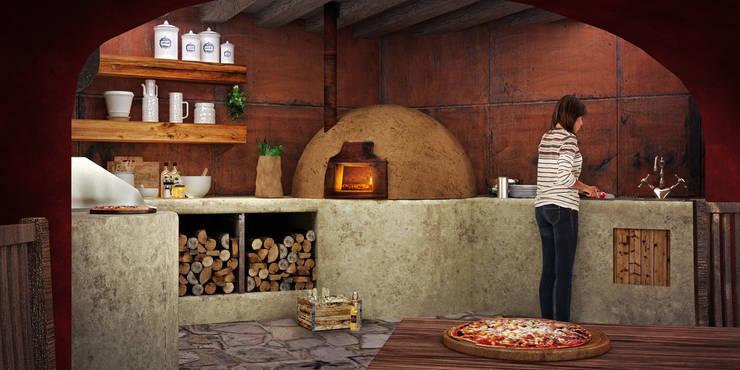 TERRAZA A-12: Cocinas de estilo  por LG STUDIO