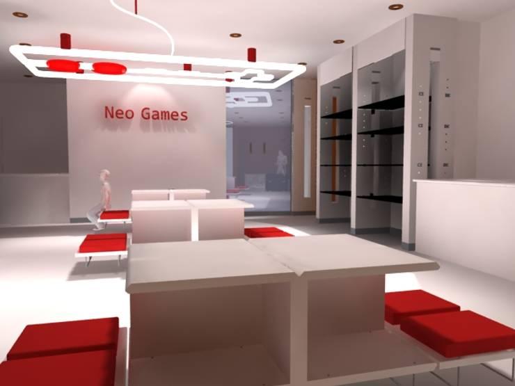 Interior Vista Norte: Centros Comerciales de estilo  por Ignacio Montero