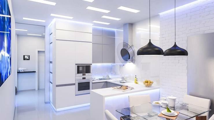 Projekty,  Kuchnia zaprojektowane przez Cuzinhas LS unipessoal LDA