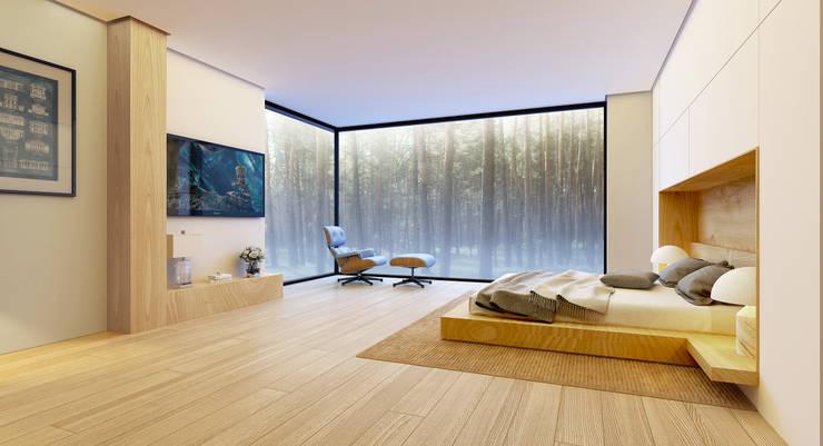 Дом во Львове (интерьер): Спальни в . Автор –  Aleksandr Zhydkov Architect