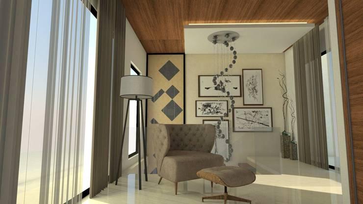 Upper lobby:   by Ar. Ananya Agarwal