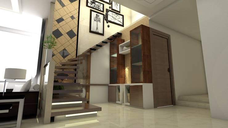 Staircase view:   by Ar. Ananya Agarwal