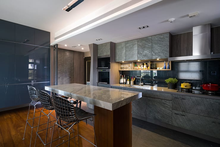 Cocinas de estilo  por 藻雅室內設計