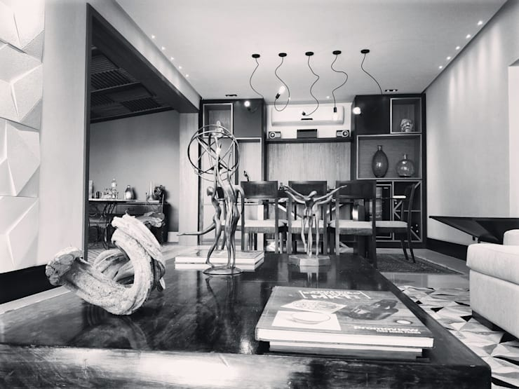 Salle à manger de style  par Lucio Nocito Arquitetura e Design de Interiores
