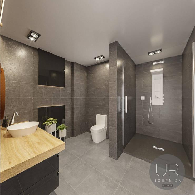 Uğur RİCA İÇ MİMARLIK – Banyo Tasarımı / Bathroom:  tarz Banyo