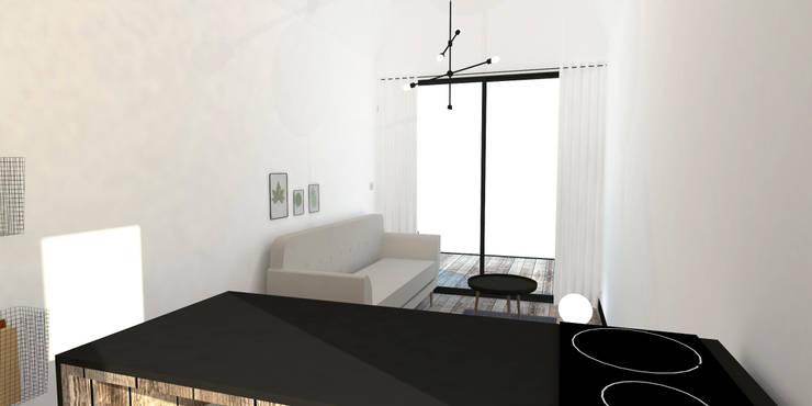 industrial Living room by Ophélie Dohy architecte d'intérieur