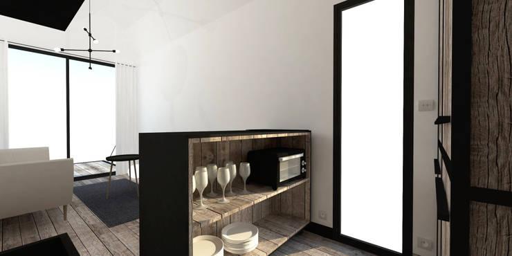 industrial Kitchen by Ophélie Dohy architecte d'intérieur