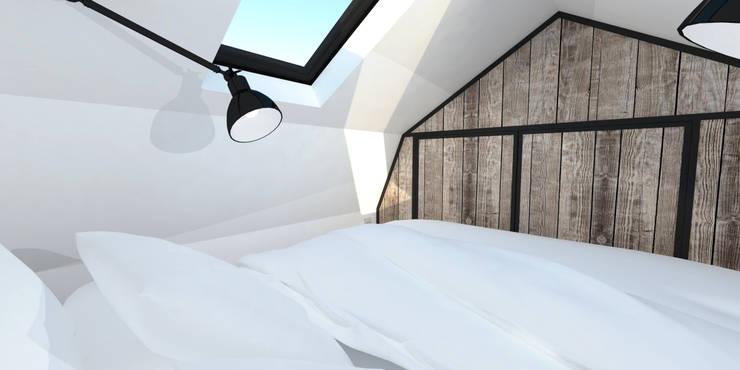industrial Bedroom by Ophélie Dohy architecte d'intérieur