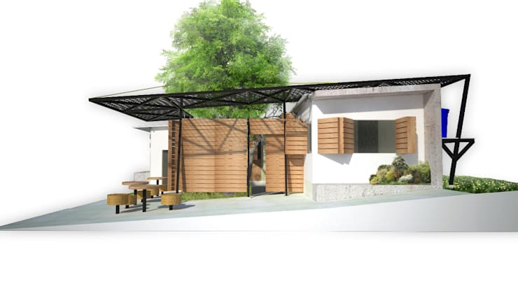Fachada Vivienda: Casas de estilo minimalista por Taller de Desarrollo Urbano