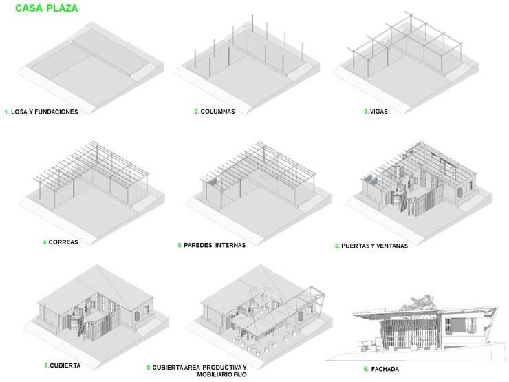 Procesos constructivos: Casas de estilo minimalista por Taller de Desarrollo Urbano