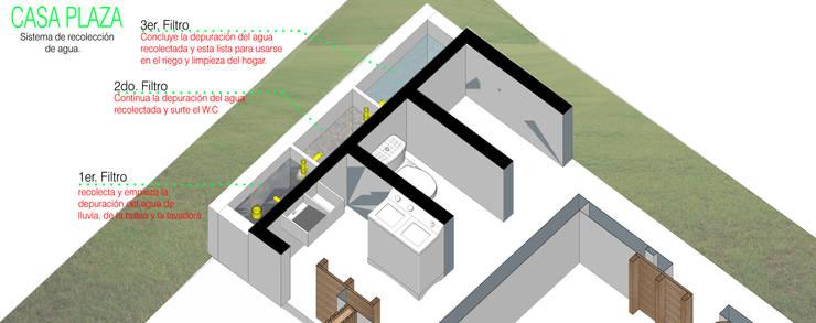 Recolección y reutilización de aguas: Casas de estilo minimalista por Taller de Desarrollo Urbano