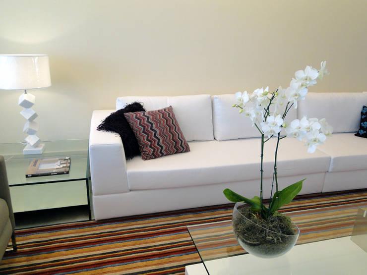 Livings de estilo  por Priscila Boldrini Design e Arquitetura