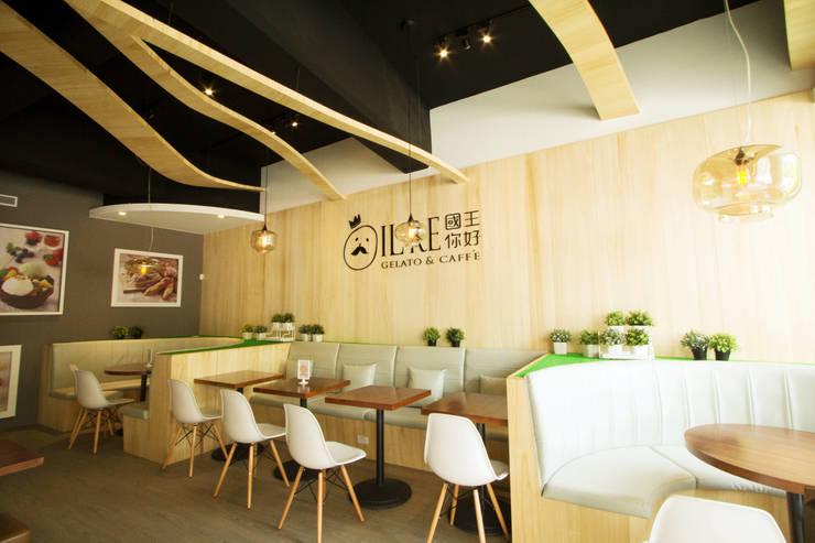 國王你好 義式冰淇淋咖啡廳:  商業空間 by 宇揚設計 Ton Horizon Design Team