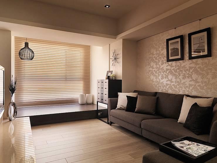 好悠閒~這樣的北歐風格才夠味!:  客廳 by 大集國際室內裝修設計工程有限公司