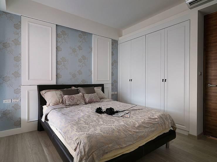 好悠閒~這樣的北歐風格才夠味!:  臥室 by 大集國際室內裝修設計工程有限公司