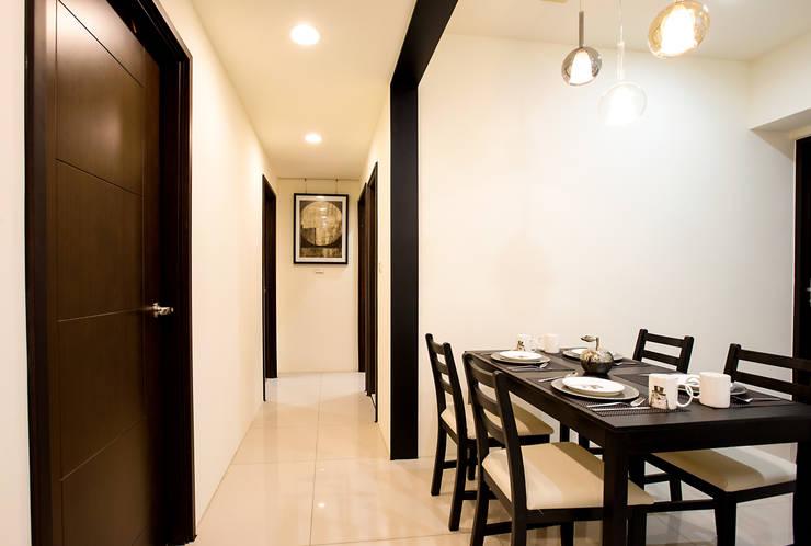 侑信仁和 9A:  走廊 & 玄關 by 栩 室內設計