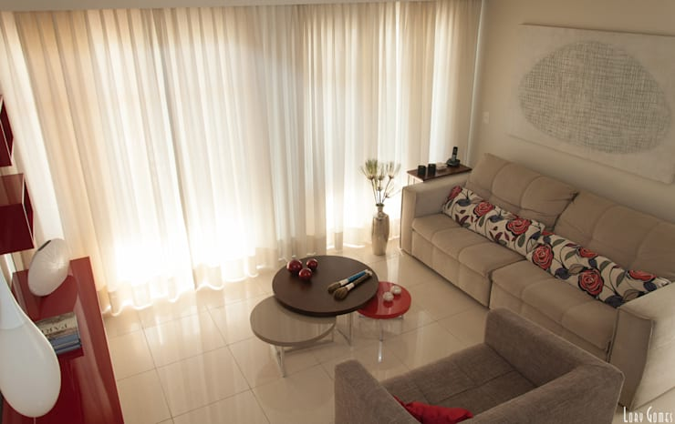 Sala de Estar: Salas de estar  por Virna Carvalho Arquiteta