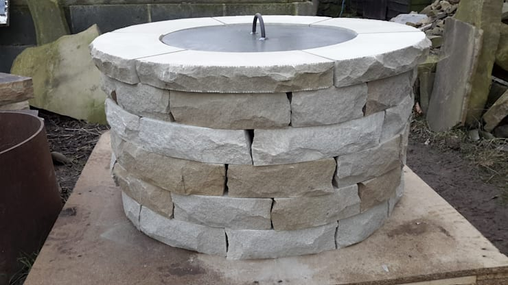Cheshire Rustic style garden by Lithic Fire Rustic Stone