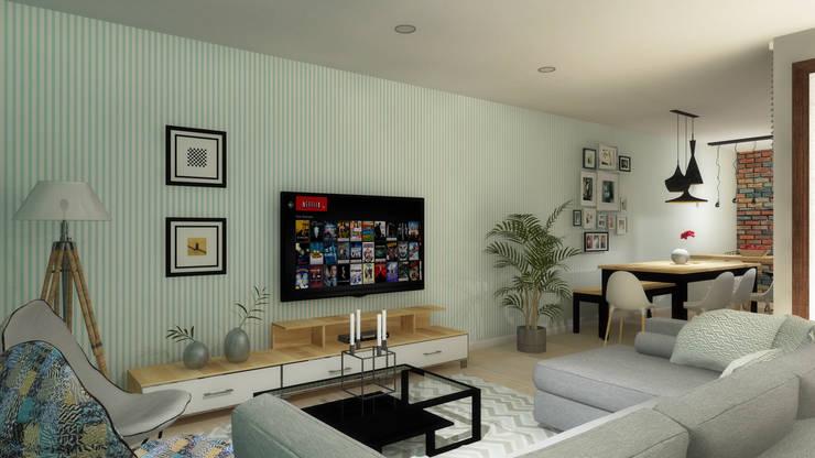 Living room by FRACTAL estudio + arquitectura