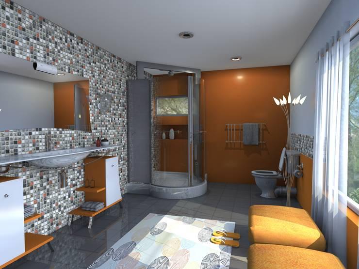 Baños de estilo  por FRACTAL estudio + arquitectura