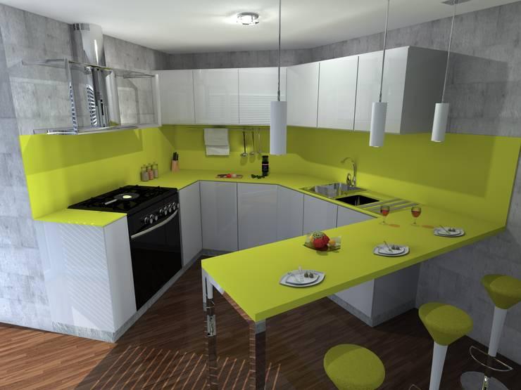 Kitchen by FRACTAL estudio + arquitectura