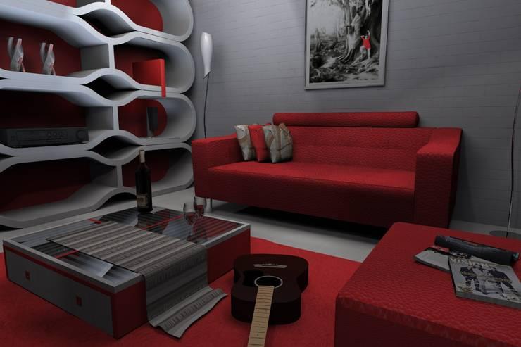 Salas/Recibidores de estilo  por FRACTAL estudio + arquitectura