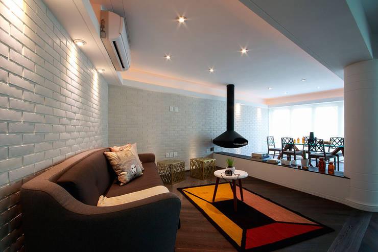 Suites Polanco: Salas de estilo  por All Arquitectura