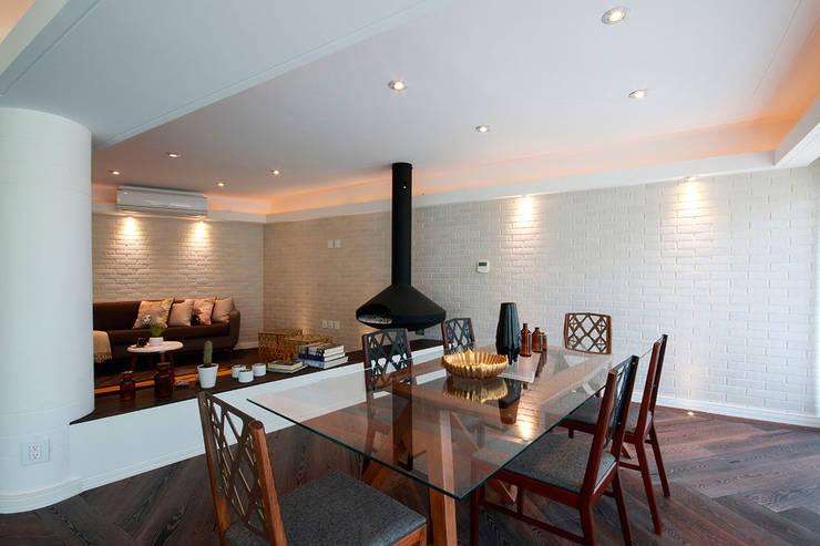Suites Polanco: Comedores de estilo  por All Arquitectura