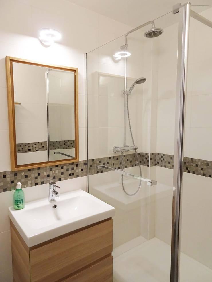 Cuisine et Salle d'eau – Créteil Salle de bain minimaliste par Sandrine Carré Minimaliste