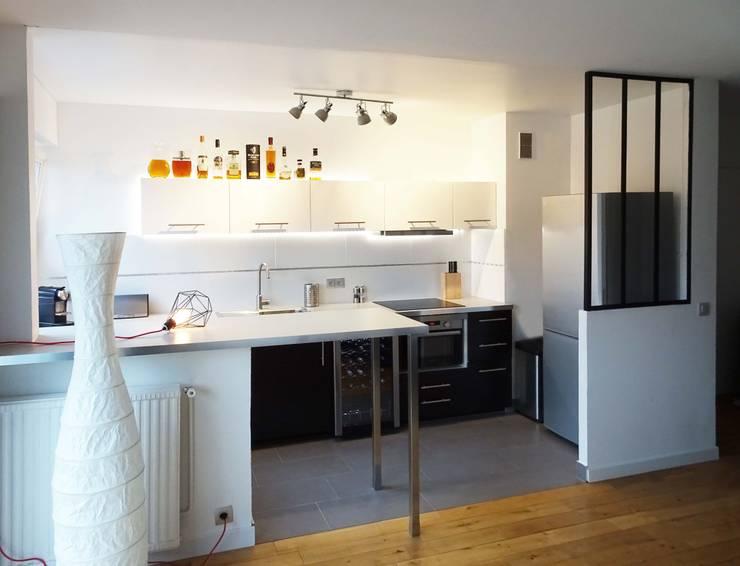 Cuisine et Salle d'eau - Créteil Cuisine minimaliste par Sandrine Carré Minimaliste