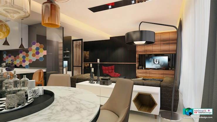 modern Living room by Axis Group Of Interior Design