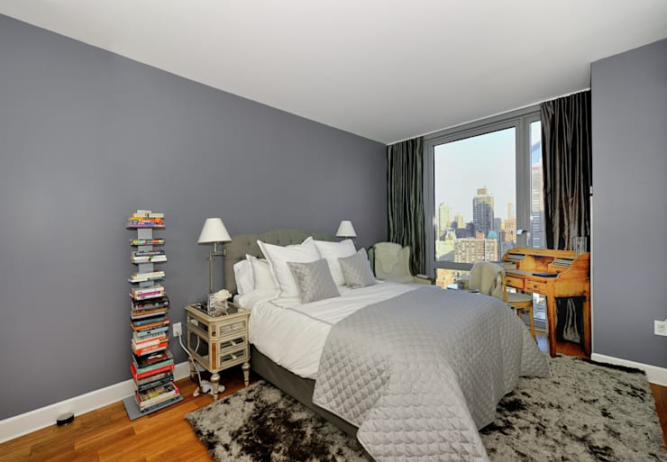Apartment Remodel on West 52nd St.:  Bedroom by KBR Design and Build