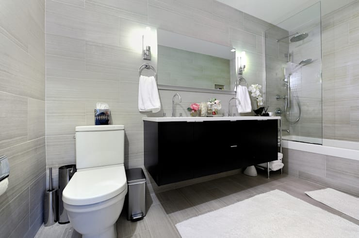 Apartment Remodel on West 52nd St.:  Bathroom by KBR Design and Build