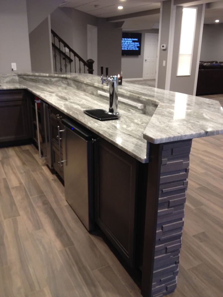 Basking Ridge Basement Bar !: classic Wine cellar by Kitchen Krafter Design/Remodel Showroom